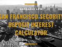 San Francisco Security Deposit Interest Calculator