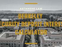 Berkeley Security Deposit Interest Calculator