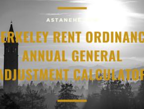 Berkeley Rent Ordinance Annual General Adjustment Calculator