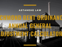 Richmond Rent Ordinance Annual General Adjustment Calculator