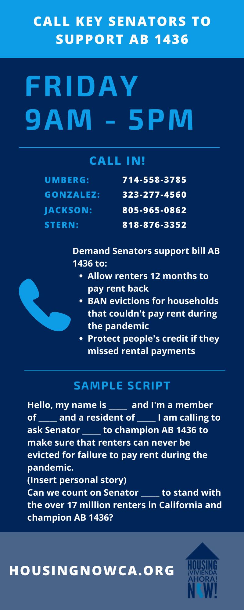 AB 1436 california coronavirus covid19 eviction ban